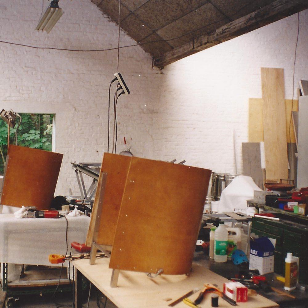 F88 in het atelier van MVS (Galgenberg, Gent) © The Maarten Van Severen Foundation