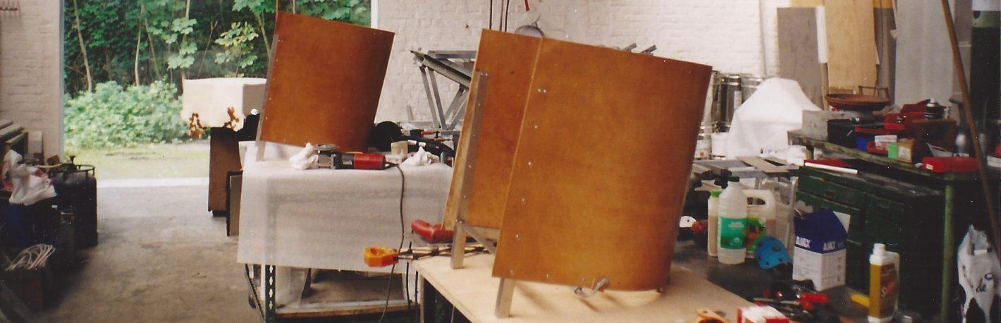 F88 In Het Atelier Van Mvs Galgenberg Gent C The Maarten Van Severen Foundation