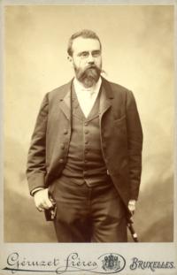 Portret van Paul Hankar, foto Géruzet Frères.