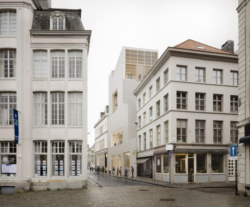 Een toekomstbeeld van de Drabstraat met de nieuwe vleugel © TRANS, Carmody Groarke en RE-ST