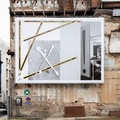 019 billboard Bart de Baets x Composition with lost signs and pencils