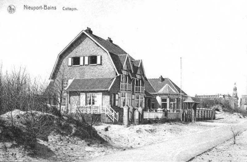 The dike at Nieuwpoort-Bad in the period between 1923 and 1940