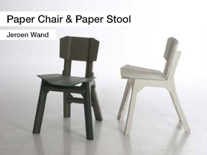 A14 Paper Chair Paper Stool