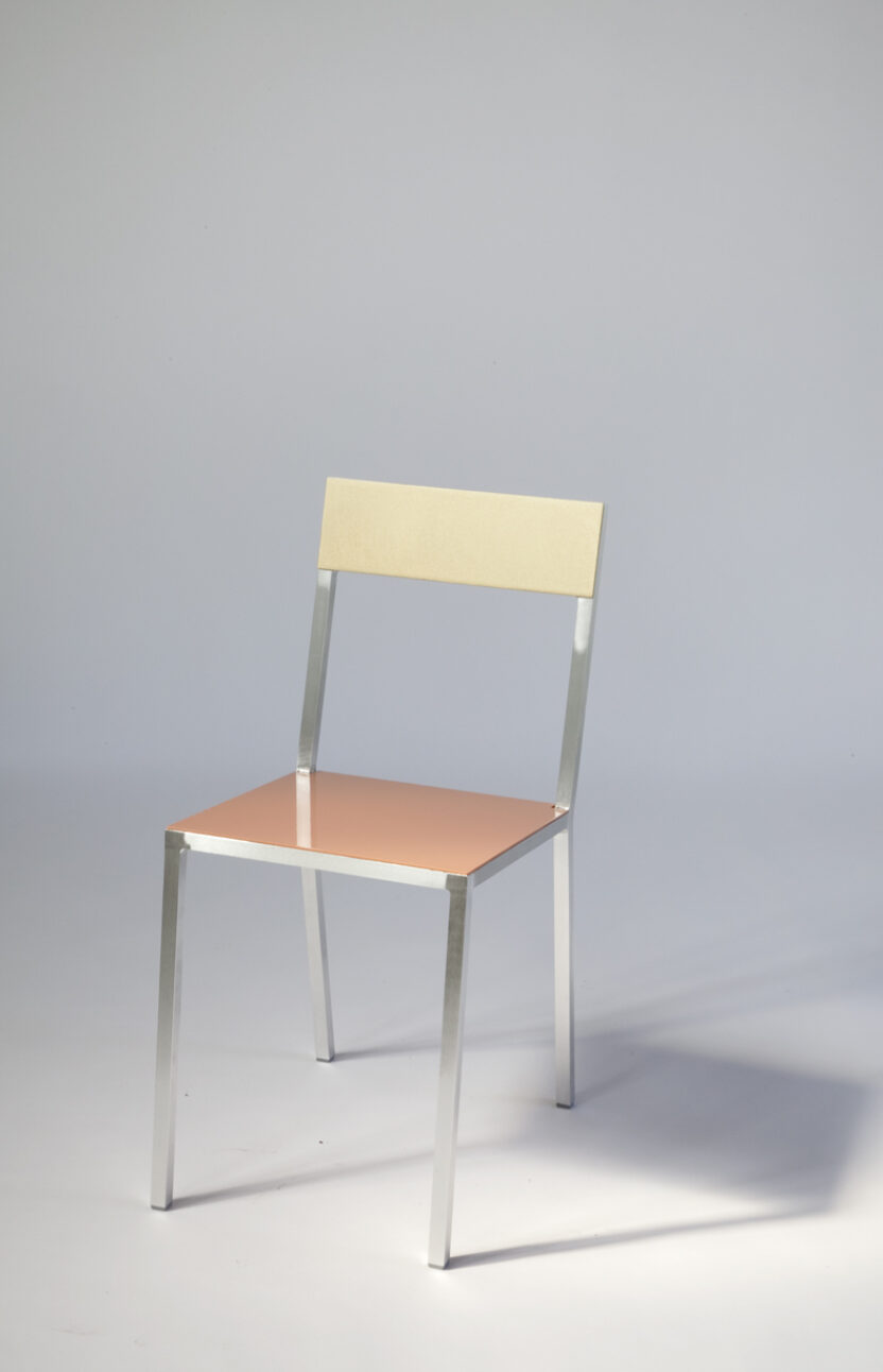 40 P Muller Van Severen Chair2 messing roze f2