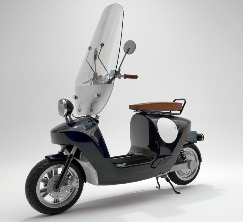 Be E Frameless Biocomposite Electric Scooter Design By Waarmakers